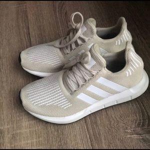 Cream Adidas Swift Run Sneakers